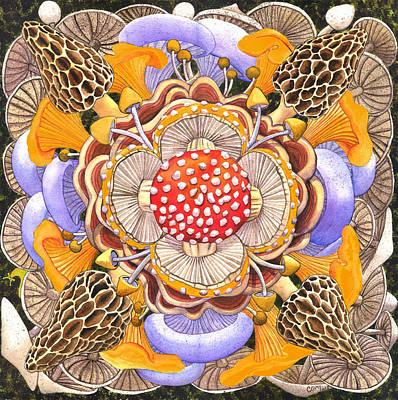 Mushroom Mandala Poster by Catherine G McElroy