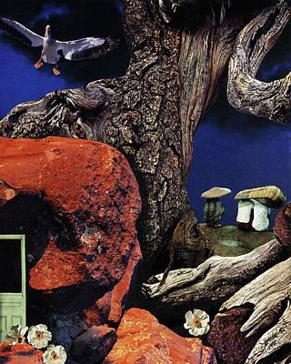 Mushroom People - Collage Poster
