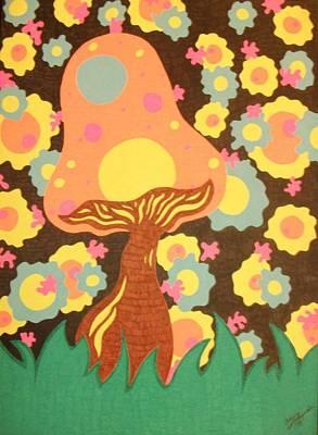 Mushroom Splatters Poster