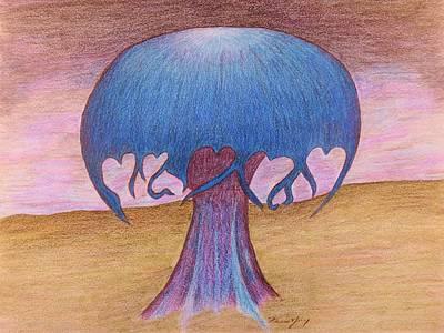 Mushroom Tree Poster