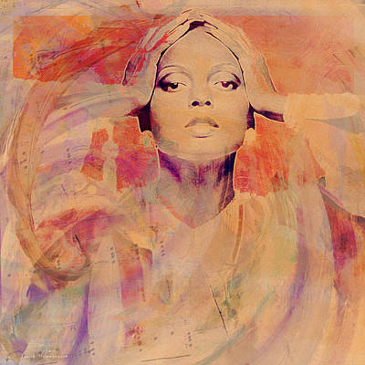 Music Icons - Diana Ross Il Poster by Joost Hogervorst