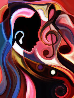 Music In The Air Poster by Karen Showell