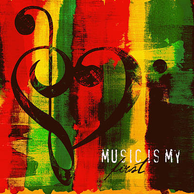 Music Is My First Love V3 Poster by Brandi Fitzgerald