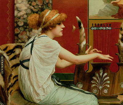 Music Poster by John William Godward