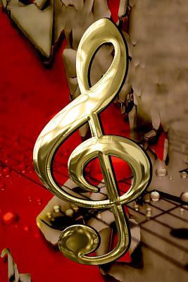 Musical Clef Sheet Music Art Poster