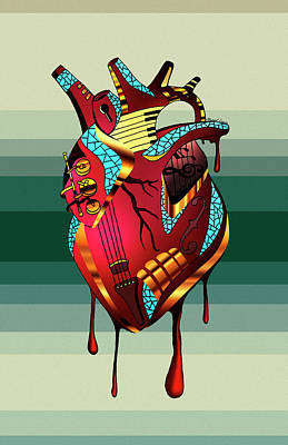 Musical Heart  Poster by Kenal Louis