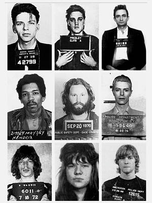 Musical Mug Shots Three Legends Very Large Original Photo 9 Poster