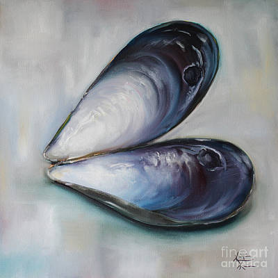 Mussel Shells Poster by Kristine Kainer