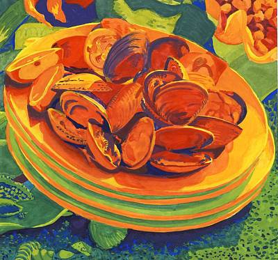 Mussels Poster by Carol Ann