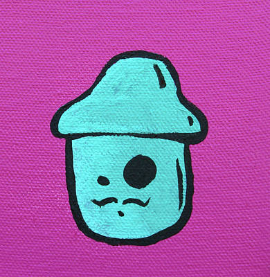 Mustache Mushroom Poster by Jera Sky