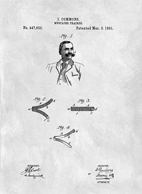 Mustache Trainer Patent Poster by Dan Sproul
