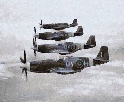 Mustang Fighter Planes Wwii Poster