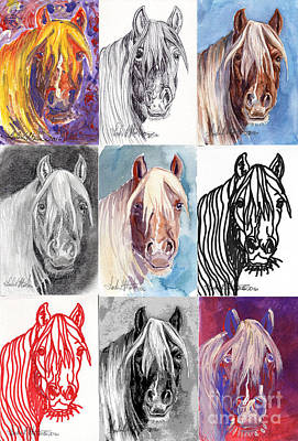 Poster featuring the painting Mustang Mare 1154 by Linda L Martin
