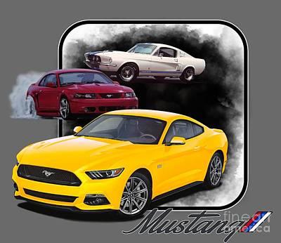 Mustangs Through Time Poster