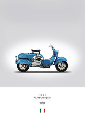 Mv Agusta Scooter Poster