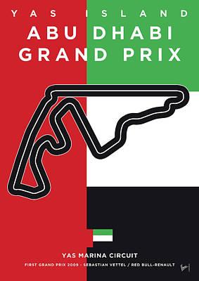My Abu Dhabi Grand Prix Minimal Poster Poster