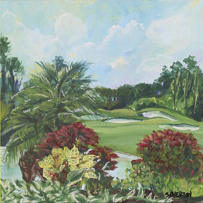 My Backyard Florida Acrylic Painting Art Poster
