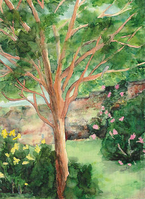Poster featuring the painting My Backyard by Vicki  Housel