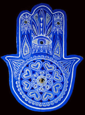 My Blue Hamsa Poster by Patricia Arroyo