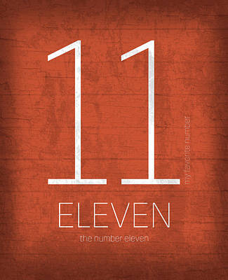 My Favorite Number Is Number 11 Series 011 Eleven Graphic Art Poster by Design Turnpike