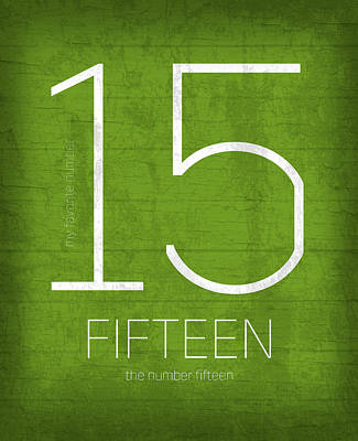 My Favorite Number Is Number 15 Series 015 Fifteen Graphic Art Poster by Design Turnpike