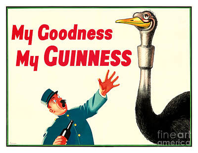My Goodness My Guinness Poster by Jon Neidert