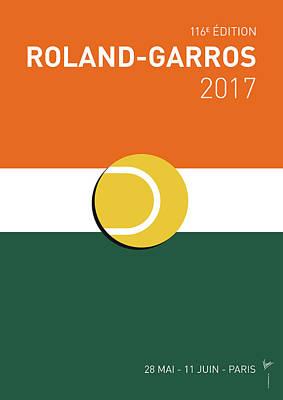 My Grand Slam 02 Rolandgarros 2017 Minimal Poster Poster by Chungkong Art