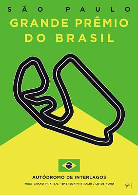 My Grande Premio Do Brasil Minimal Poster Poster