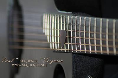 My Guitar  5 2010 Poster by Paul SEQUENCE Ferguson             sequence dot net