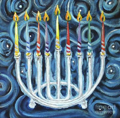 My Hanukkiah Poster by Cheryl Rose