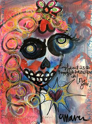 Poster featuring the painting My Heart Is So Happy To Know You by Laurie Maves ART