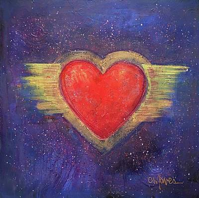 Poster featuring the painting My Heart My Strength by Laurie Maves ART
