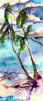 Poster featuring the painting My Island In The Sun by Ginette Callaway
