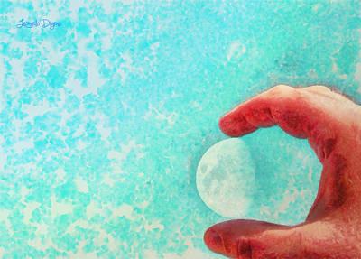 My Little Moon - Da Poster by Leonardo Digenio