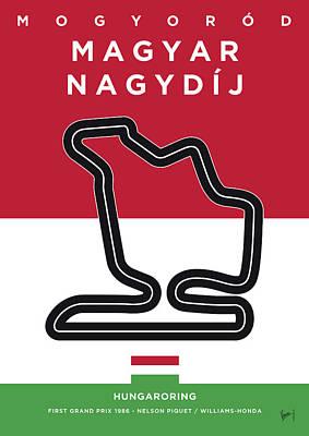My Magyar Nagydij Minimal Poster Poster