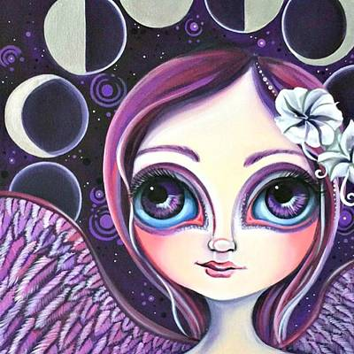 My moon Phase Angel Original Poster by Jaz Higgins