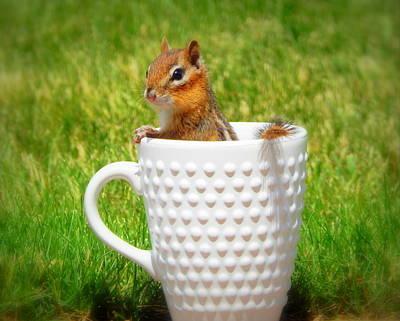 My Morning Cup Of Joe Poster by Karen Cook