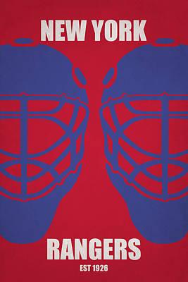 My New York Rangers Poster by Joe Hamilton