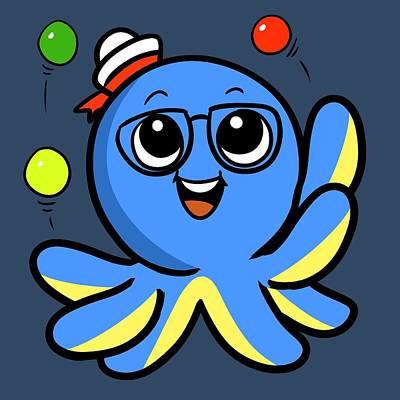 My Octopus Can Juggle Balls Poster
