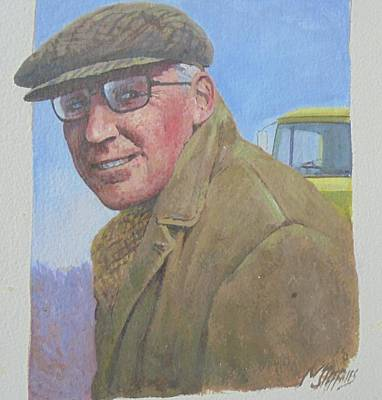 Poster featuring the painting My Old Boss 1965. by Mike Jeffries