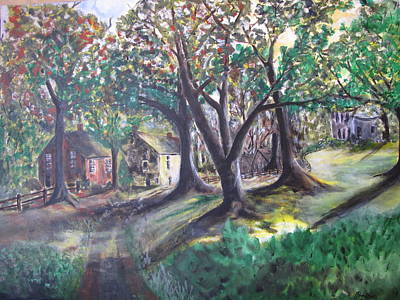 Poster featuring the painting My Old Southern Plantation Home by Gary Smith