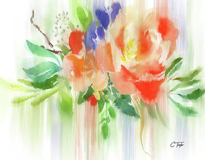 Poster featuring the painting My Roses Gently Weep by Colleen Taylor