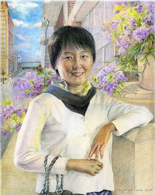 Poster featuring the painting My Second Home Town by Ping Yan