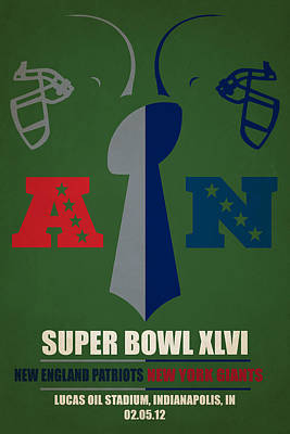 My Super Bowl Patriots Giants Poster by Joe Hamilton
