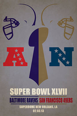 My Super Bowl Ravens 49ers Poster by Joe Hamilton