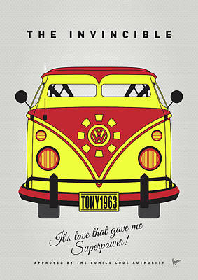 My Superhero-vw-t1-iron Man Poster by Chungkong Art