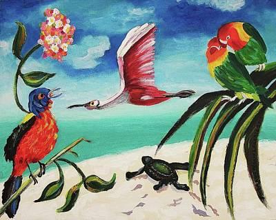 My Texas Song Bird Poster