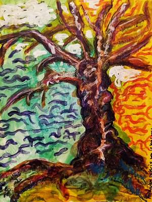 Poster featuring the mixed media My Treefriend by Mimulux patricia no No