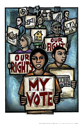 My Vote Poster by Ricardo Levins Morales