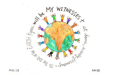 My Witnesses Poster by Kristen Williams